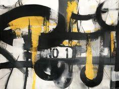 Title: BACK IN THE NIGHT (New York Stories) by Pauline Lindberg 116 x 89 x 4 cmmixed media / acrylic / 3D #paulinelindberg #newyorkstories #black #yellow #contemporaryartist #konst #swedishart #texture #concretedreams #acrylic #abstractart #contemporaryart #contemporary #expressionism #mixedmedia #abstractartist #abstract  #artwork #konst #artist #art