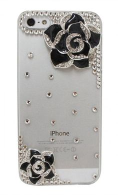 Rose + Crystal Bling iPhone Cover. I don't have an iphone...but it's cute.