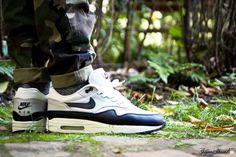Nike Air Max 1 Leather SC White/Black/LT Zen Grey