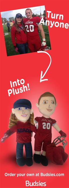 Great gift idea - turn anyone into a huggable custom plush character. Super simple to order. Check out Budsies.com/selfies