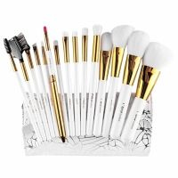 15pcs Makeup Brushes Professional Cosmetic Powder Blush Contour Foundation Eyebrow Eyeshadow Make-up Brush Set with Bag