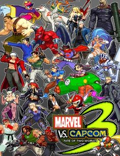 Marvel vs Capcom 3 Fate of Two Worlds Capcom by Ultimate Marvel vs. Capcom 3 Cast As Sprites Marvel Vs Street Fighter, Capcom Street Fighter, Street Fighter Alpha, Crossover, Ultimate Marvel, Marvel Comics Superheroes, Gamers Anime, Geek Games, Fighting Games