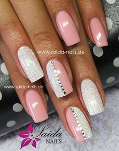 Nails ideas :classy beautiful nail art games-cute nail designs of 2013 Fancy Nails, Love Nails, Trendy Nails, Fabulous Nails, Gorgeous Nails, Nagellack Design, Peach Nails, White Nails, Silver Nail