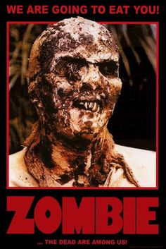 "A great poster from the quintessential movie for lovers of brain-eating horror, Lucio Fulci's cult film Zombie (Zombi 2) - a classic of the ""splatter"" genre! Ships fast. Fully licensed. 24x36 inches."
