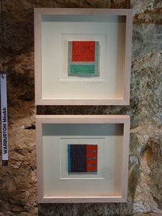 "Meabh Warburton Two small tapestries (3 x 3"" and 4 x 4"")"