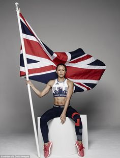 World champion and Olympic gold medal-winning heptathlete Jessica Ennis-Hill models the new Great Britain Adidas kit for the Olympics in Rio in 2016 Jessica Ennis Hill, Jess Ennis, Olympic Medals, Olympic Team, Olympic Games, Olympic Champion, Nmd R1, Adidas Superstar, Team Gb Kit