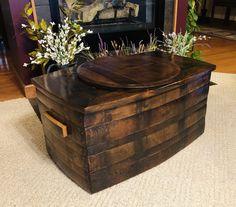 Pallet Wood, Wood Pallets, Whiskey Barrel Furniture, Wine Barrels, Storage Chest, Tub, Jewels, Projects, Ideas