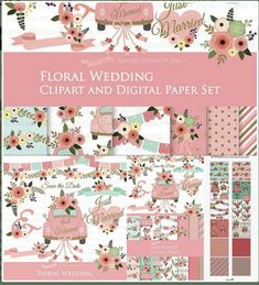 Beautiful Floral Wedding Clipart For Your Invitation