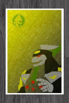 Minimalist Dragonzord Power Rangers Art Poster by adesigngeek, $14.99