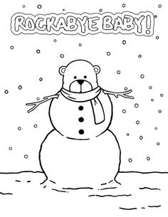 holiday coloring pages at rockabye baby download here httprocka