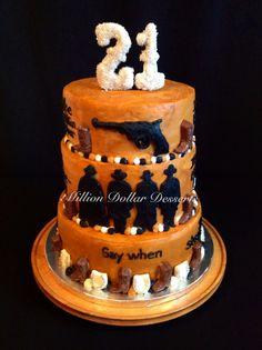 John Wayne Birthday cake done by my step mom for grandpa For