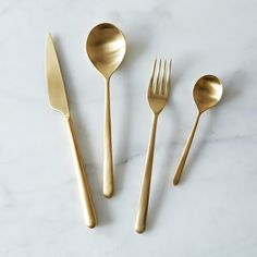Gold Flatware Set on Provisions by @Food52
