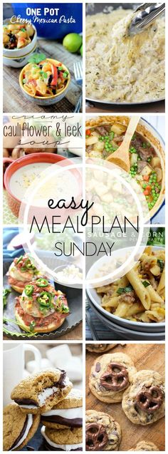 Easy Meal Plan #40 - Every one of these recipes in this dinner plan looks amazing!