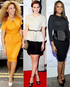 Celebrity inspiration for #peplum #trend ! #fashion