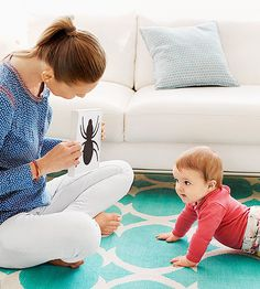 While your newborn may not do much at first, she'll soon reach developmental benchmarks that allow her to interact with the world in a whole new way. Track her progress with these 6 fun tests that you can do at home.