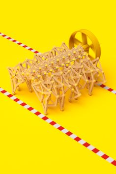 A small tribute to Theo Jansen's kinetic sculptures. #gif #kinetic #machine