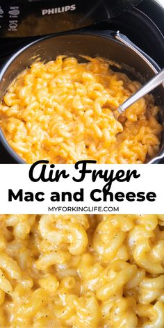 Make easy and delicious comfort food right in your air fryer with this mac and cheese recipe. Skip boiling the noodles and make everything in your air fryer. Air Fryer Oven Recipes, Air Frier Recipes, Air Fryer Dinner Recipes, Air Fryer Recipes Mac And Cheese, Air Fryer Rotisserie Recipes, Crockpot, Air Fried Food, Cooks Air Fryer, Air Fryer Healthy