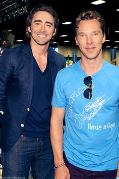 Lee Pace and Benedict Cumberbatch (King Thranduil and Smaug) at SDCC 2014.