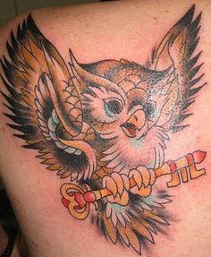 Tattoo My World - Photo Gallery for Tattoo Artists: Cartoon Owl Tattoos Cute