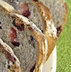 Recipe For Cranberry Pecan Artisan Bread  - The results are quite spectacular, a true rustic artisan bread with a crisp, golden brown crust and a chewy soft interior.