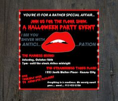 Halloween Party Invitation  Rocky Horror by SilhouetteDesign, $2.00