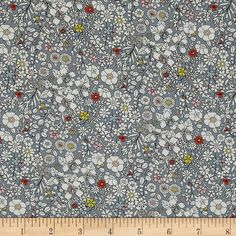 From the world famous Liberty Of London, this exquisite cotton lawn fabric is finely woven, light weight and ultra soft. This gorgeous fabric is oh so perfect for flirty blouses, dresses, lingerie, tunics, tops and more. Colors include slate blue, white, orange, pink, and yellow.