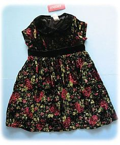 d5c862a810f5 Gymboree Holiday Traditions Black Velvet Red Roses Floral Dress Baby Dresses,  Holiday Traditions, Gymboree