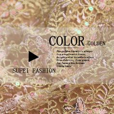 Colorful gold thread embroidery beading lace gauze material high quality formal dress wedding dress fabric $84.60