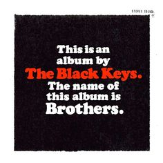 Typeface: Cooper Black  Use: Brothers album cover, The Black Keys