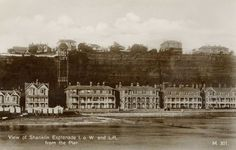 Isle of Wight, Shanklin, The esplanade and lift from the pier in the 1920's
