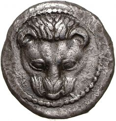 Tetradracma - argento - Messena (Messina), Sicilia (488-480 a.C.) testa leonina di fronte - Münzkabinett Berlin