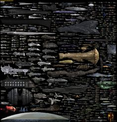 Holy cow this is amazing!   Every Sci-Fi Starship Ever*, In One Mindblowing Comparison Chart