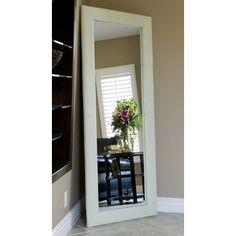 Allure Floor Mirror in White
