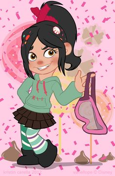 Going to make a Vanellope von Schweetz costume for my niece Barbie Princess, Royal Princess, Disney Art, Disney Pixar, Disney Characters, Vanellope Von Schweetz, Waves Goodbye, Learn To Fly, Wreck It Ralph