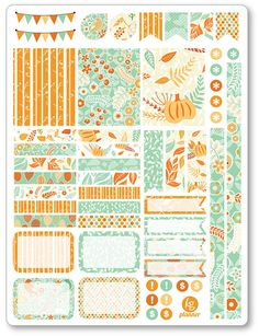 Hello Fall Decorating Kit / Weekly Spread Planner Stickers for Erin Condren Planner, Filofax, Plum Paper