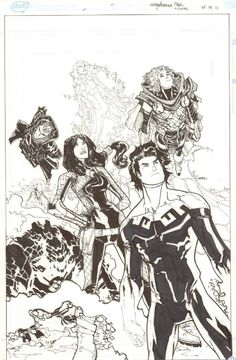 Anthony's Comic Book Art :: For Sale Artwork :: Superheroes Mex #1 Cover - 2011 Signed by artist Humberto Ramos