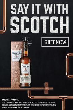 Because it's double-aged, Dewar's 12 is twice the gift.   Dewar's 12 year-old Blended Scotch Whisky is double-aged for extra smoothness.