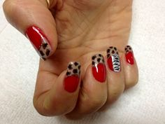 Gel polish with toothpick,you can design some animals print easy.Have fun.(Idol nails & Spa in Palm Harbor Fl)