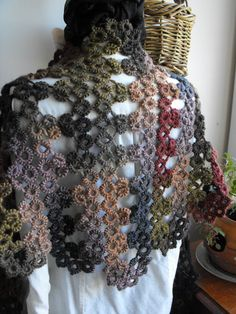Forest Floor Needle Tatted Lace Soy Wool Shawl by tattingforspirit, $140.00 *** like this adaption of tatting