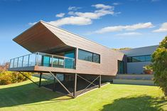 Architecturally design beach house, The Roozen Residence, is available for holiday accommodation in Margaret River. Beach Homes, Holiday Accommodation, House Plans, Australia, River, Interior Design, Luxury, Outdoor Decor, Modern