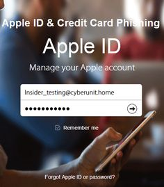 Cyber Security & Hacking News – Apple ID and Credit Card Phishing – Cybersecurity research