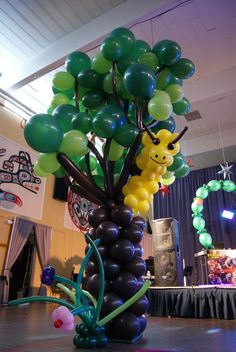 14+ foot tree. Designed by Balloons by Night Moods in Juneau, Alaska 523-1099