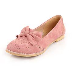 Las mujeres de piel talón plano Confort holgazanes de los zapatos (más colores) - CLP $ 11.895