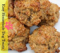 Homemade Dog Treats - Peanut Butter Oatmeal: both of my picky eaters loved this! I made 23 small treats and cooked them 13 mins or so. Peanut Butter Dog Treats, Homemade Peanut Butter, Peanut Butter Oatmeal, Homemade Dog Treats, Homemade Oatmeal, Dog Treat Recipes, Dog Food Recipes, Cake Recipes, Little Mac