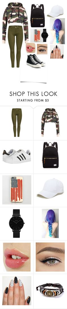 """la munte"" by alexandrapircu on Polyvore featuring adidas, Herschel Supply Co., Sole Society, CLUSE and Converse"