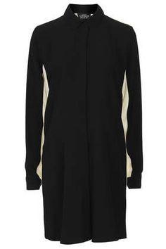 Kontrastfarbenes Umstands-Hemdkleid - Umstandsmode - Bekleidung
