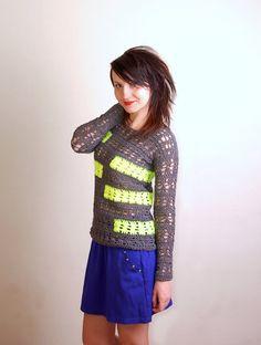PDF Crochet Pattern - Forks Sweater - sizes XS/S to 2XL - Womens Crochet Sweater Pattern instant download
