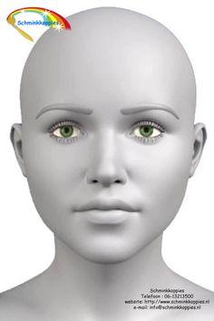 Oefenhoofd voorzijde Practice head Diy Halloween Face Paint, Diy Face Paint, Halloween Makeup Kits, Paint Set, Face Painting Tutorials, Painting Templates, Face Painting Designs, Painting Stencils, Doll Painting