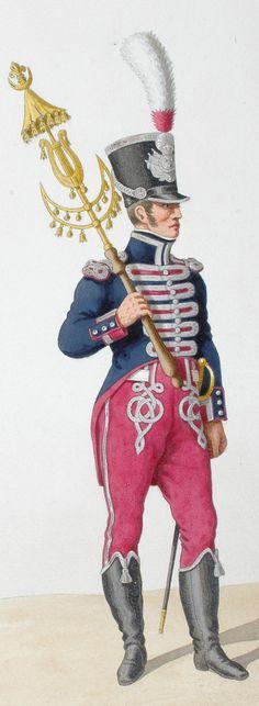 1816. Garde Royale. Infanterie (1e Régiment). Musicien, Tambour des Grendadiers