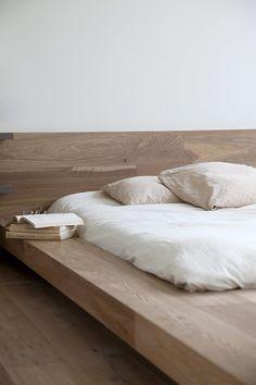 platform bed, love the wood.